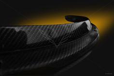 2014-2016 C7 Z06 Front Fender Spats / Moldings Carbon Fiber