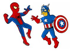 simpsonized superheroes
