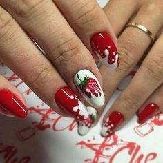Whatever your age is, the red nail polish is always a nice choice. The red nails are so versatile that you can wear them for different styles and occasions. Red nail designs are timeless, what can … Classy Nails, Trendy Nails, Cute Nails, Best Nail Art Designs, Acrylic Nail Designs, Gel Nail Art, Gel Nails, Nail Polish, Toenails