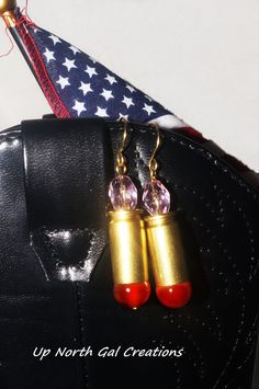 Agate and Crystal Earrings 40 Caliber by UpNorthGalCreations