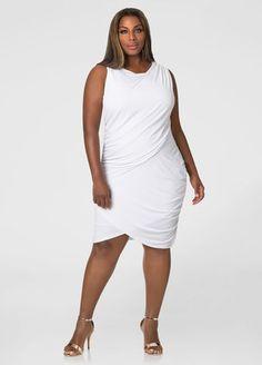 Drape Front Bodycon Dress
