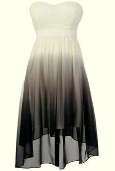 Cute Ombre High Low Dress!