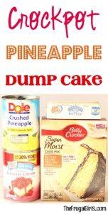 Crockpot Pineapple Dump Cake Recipe at TheFrugalGirls.com