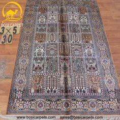 Hand knotted silk rug # Rug No.: P4209# Quality: 150L (156kpsi) # Size: 3x5ft (91x152cm) # Material: 100% Silk # wholesale Price: $240/piece # If you have any interests, please email to sales@bosicarpets.com        Hand-madecarpet#orienatlrug#oldrug#Kashmirrug#Chinacarpet#Iraniancarpet#boteh#HeratiGul# Isfahan#Tabriz#Qum#Nain#Kashan#Kerman#Bijar#Sarouk#Caucasian#antiquecarpet#bosicarpet