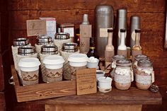 hot chocolate bar - rustic