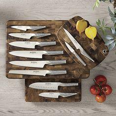 Global ® Knife Block Set - Crate and Barrel Global Chef Knife, Global Knife Set, Global Knives, Knife Block Set, Knife Sets, Chefs, Fancy Kitchens, Utility Knife, Knife Sharpening
