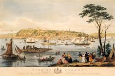 View of Quebec. Engraving by Benjamin Beaufoy. (Courtesy of the National Archives of Canada) Quebec City, Chute Montmorency, Birds Eye View Map, Saint Lawrence River, Chateau Frontenac, Le Petit Champlain, Canadian History, World Geography, Special Forces
