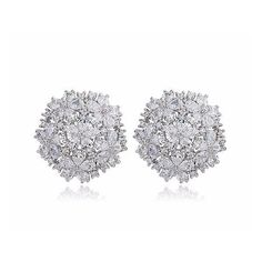 380a08288 *Free shipping worldwide* Be dazzled by the radiant of the sparkling  bouquet motif. Prom EarringsProm JewelryBridal ...
