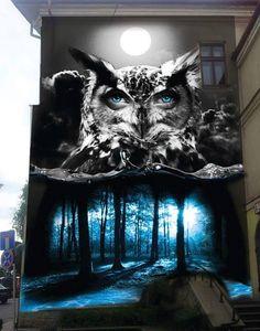 Wall for Galeria Bielska BWA in Bielsko-Biala, Poland 2015 by Turbograff.