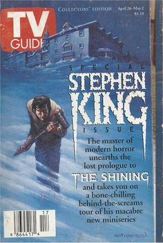 Bernie Wrightson's TV Guide cover for Stephen King issue King Of Kings, My King, Stephen King Movies, Steven King, Doctor Sleep, King Quotes, Classic Monsters, The Shining, Tv Guide