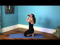 Xen Strength Yoga with Weights Ab Challenge for a Flat Belly - YouTube