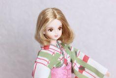 Kimono doll.Japanese kimono. ジェニーフレンド、サヤカのモダン着物