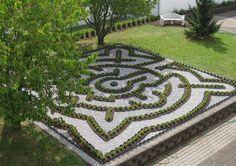 Begehbares Labyrinth, 9 x 9 m