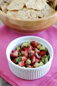Strawberry and Avocado Salsa - Little Chef Big Appetite