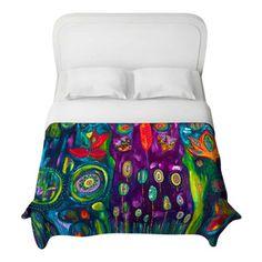 DiaNoche Designs - The Believers Garden Duvet Cover - Lightweight and super soft brushed twill Duvet Cover sizes Twin, Queen, King.  Cotton ...