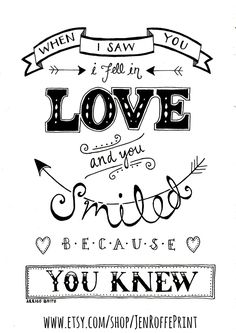 Love. Inspirational Typography Print Black and White. Shakespeare quote.