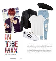 """""""war of hormone"""" by cruzfloramaejoy on Polyvore featuring LE3NO, Topshop, Hush, adidas and Gucci"""