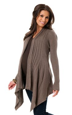 Love this sweater - stylish yet practical and so comfy. @babycenter maternity must-haves