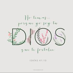 Confía que Dios. Do not fear for I am with u. Christian Life, Christian Quotes, Bible Quotes, Bible Verses, Scripture Study, Faith In Love, God Loves You, Quotes About God, Dear God