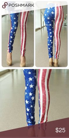 Sexy US American Flag Tights Leggings Stretchy formfitting Pants Leggings