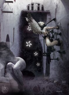 """Lilith | Felinorum Puteus"" [Genius Loci - slab4/5] 2016 © [Mazareno] ominimedial-digitalfrottage-photomanipulation [proportions 1,37:1] #mixmedia #photomanipulation #glitch #photography #drawing #graphic #painting #digitalart #omnimedia #inkjet #fresco #esotericism #mythology #symbolism #abandoned #geniusloci #Lascaux #Delaplanche #Dionysus #initiation #ritual #epos #noumenon #phenomenon #alchemy #science #astrology #Mediterranean #labyrinth #cave #arcane #beast #man #god #soul #love #art"