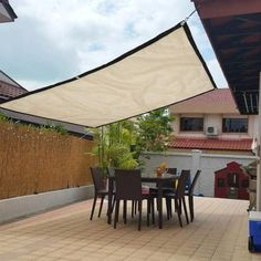 Vela - Outdoor Patio Sun Shade Sail There are various things which can easily last Deck Shade, Patio Sun Shades, Sun Sail Shade, Backyard Shade, Patio Shade Sails, Outdoor Sun Shade, Balcony Shade, Shade For Patio, Outdoor Shades For Porch