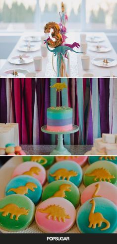 This nontraditional girlie party found within this Rainbow Dinosaur Birthday is full of fabulous ideas and inspiration that you will love.