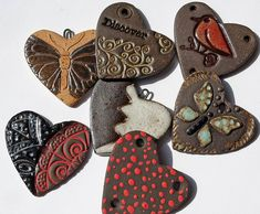 Assorted Ceramic Heart Charms