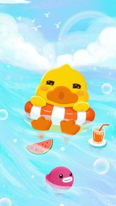 Duck Wallpaper, Soft Wallpaper, Disney Wallpaper, Rubber Duck, Cute Wallpapers, Cartoon Characters, Pikachu, Manga, Ducks