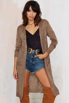 Ain't no cardi like a duster cardi, 'cause a duster cardi don't stop. Like, for real.