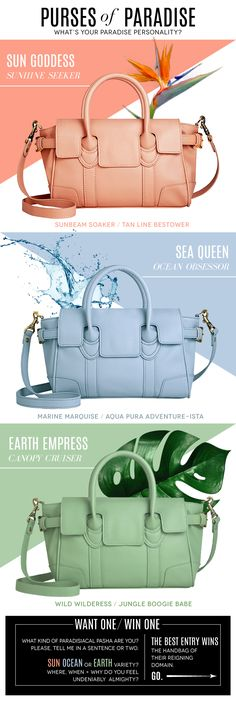 Purses of Paradise Handbag GIVEAWAY! Click through to comment + enter to win a vegan Zink handbag! (giveaway closes 07/24)