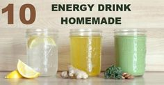 Energy Drink: 10 ricette naturali per prepararli in casa #cibisani #energydrink