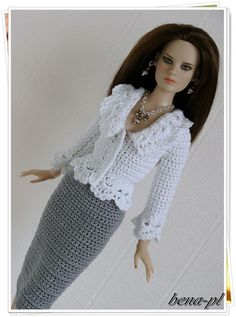 "bena-pl  Clothes for Tonner Suzette, Revlon 13"" OOAK outfit"