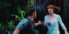 MOVE Claire Owen Jurassic World His face!!!! go claire!!!!