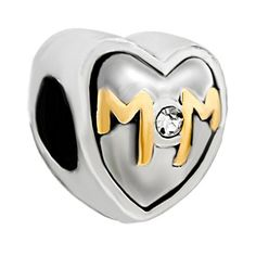 Beautiful MUM Mother Mummy European Charm With Pink Gift Pouch Silver Tone
