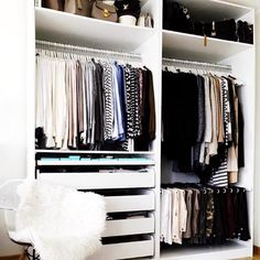 Consider Height - How To Make Your Exposed Closet Look Elevated - Photos