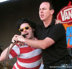 """Fat"" Mike Burkett of NOFX and Greg Graffin of Bad Religion Warped Tour, San Fransisco Pier Spongebobbiii Photography"