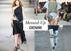Jean Stories Presents Top Denim Trends from the Spring 2015 Collections – Vogue - We're in the midst of an incredibly fun and adventurous denim moment, when anything—from shredded to dark-wash, low-slung, or high-waisted, and even patched or bedazzled—goes. For every mood and every day, there is a jean, a jacket, and a skirt or shirt.