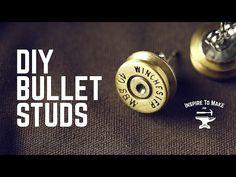 DIY Bullet Studs from #inspiretomake inspiretomake.com #lathe https://youtu.be/3y-TWnIMHKM