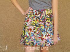 Sewing Tutorial: Custom Flared Skirt