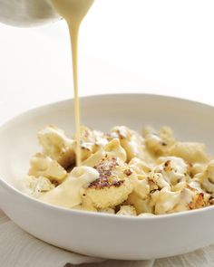 Using Gruyere cheese makes this sauce a little richer and it blends well with cauliflower.