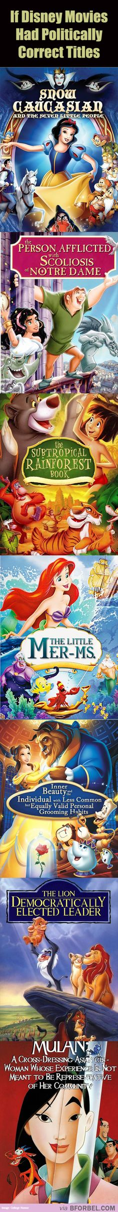 7 Disney Movies With Politically Correct Titles…hahaha our society is so sad it's hilarious!