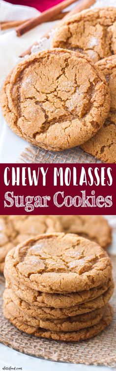 These chewy molasses sugar cookies are one of myfavorite Christmas cookie recipes! They are rich, chewy, and have just a hint of spice to make them perfect for the holidays! Homemade molasses cookies are the best Christmas dessert or edible Christmas gift!