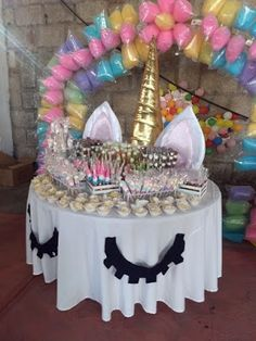 Birthday Table Decoration Ideas For Husband. Black And Gold Table Decor Birthday Party Decorations . Hooray For A Sprinkle Party Blakely's Birthday Party! Unicorn Themed Birthday Party, Unicorn Birthday Parties, First Birthday Parties, Birthday Party Themes, Birthday Ideas, 5th Birthday, Ballon Party, Birthday Table Decorations, Unicorn Baby Shower