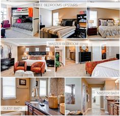 2012 St. Jude's Dream Home: Bedrooms, Master Bedroom and Bathrooms.