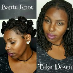 Loc Bantu Knot Take Down|Nina S.