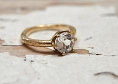 Anello di fidanzamento diamante Calais  14kt oro e di OliviaEwing