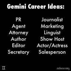 Best career options for gemini woman
