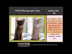 Flash Photography Tips  http://canonlensesforlandscape.com
