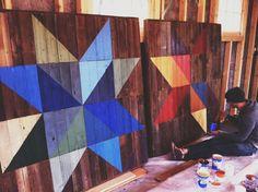 Joe Swec's Modern Rainbow Barn Quilt | 2Modern Blog